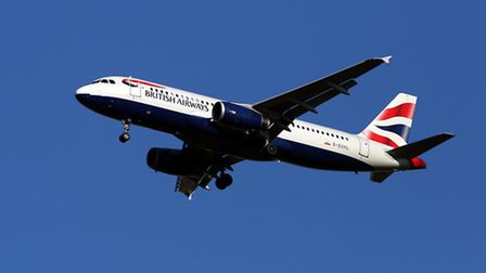 A British Airways Airbus A320 plane similar to the one that was struck by what is believed to be a d