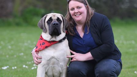 Dog show at Swanton Morley raising money for Nelson's Journey. Pictured are Emma Herring and Annie.