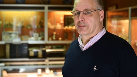 Philip Barulis, owner of Philip John Jewellers.Attempted robbery at the jewellers on King Street.Pic