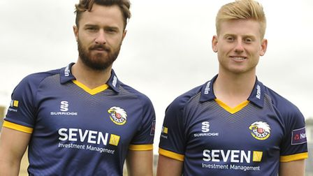 Jaik Mickleburgh and Callum Taylor at Essex County Cricket Club's media day. Picture: Su Anderson