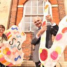 Festival chairman Hugh Sturzaker and Tricia Hall from Creative Collisions launching the Great Yarmou