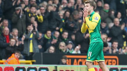 Patrick Bamford is on loan at Norwich from Chelsea. Picture by Paul Chesterton/Focus Images