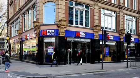 File photo dated 09/02/15 of a Metro Bank branch in London. Picture: Nick Ansell/PA Wire