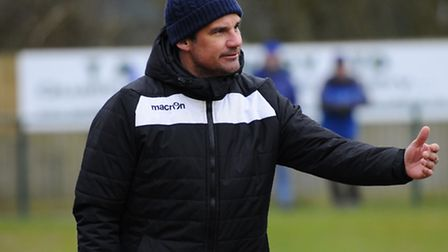 Wroxham manager Damian Hilton. Picture: Mark Bullimore