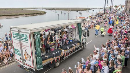 Last year's Wells Carnival Parade in full swing. Picture: Matthew Usher.