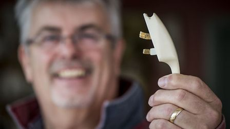 William Dolman with his new plug and socket he has invented. Picture: Matthew Usher.