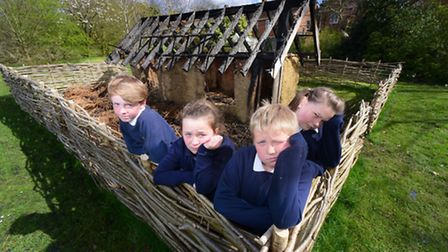 Arsonists have burnt down the Anglo-Saxon longhouse built by pupils at West Earlham Junior School up