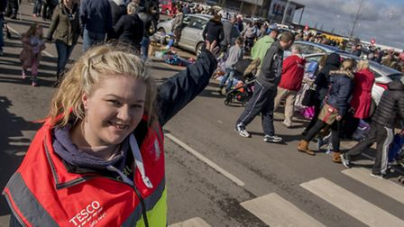 A car boot was held at Tesco's Hardwick in King's Lynn rasing money for the QEH / EDP EXCEL appeal -