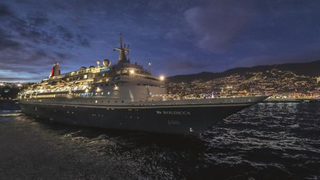 Boudicca in Funchal, Maderia. The ship will be calling at Southwold in summer 2017.