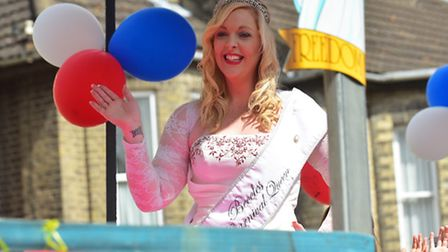 Last years Miss Beccles Christine Soanes taking part in the Beccles Carnival parade.