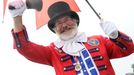 Sheringham's current town crier Tony Nelson. Nobody has come forward to replace him, meaning the rol