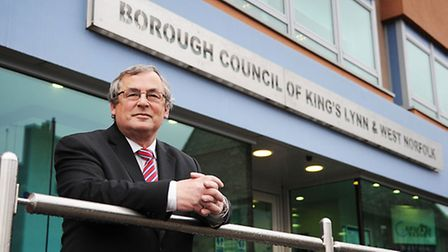 Borough Council Leader Nick Daubney outside the council offices in King's Lynn. Picture: Ian Burt
