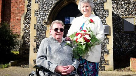 Frank and Barbara Watson celebrating their diamond wedding anniversary by renewing their vows.Pictur