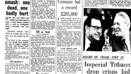 The EDP on Friday, October 15, 1965, reporting the crash.