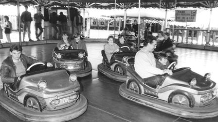 The dodgems at the Norwich Easter Fair on April 9, 1985.