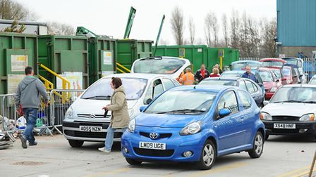 Caister Recycling Centre on Pump Lane.Picture: James Bass