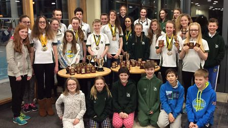 The Norwich Swan Swimming Club thrived at the Norfolk County ASA Championships as, inset, Tommy Chan