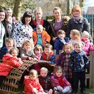 Treetops Day Nursery in Martham which has been rated Outstanding by Ofsted.Staff and children.Pictur