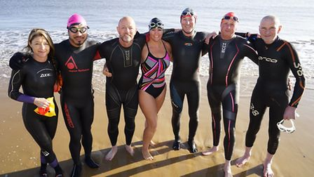 Open swimmer Tracey Clark, 46 of Thorpe St Andrews who in February swam from Robben Island, the pris