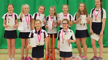Norwich School, winners of the under-13 county title in the Lady Taverners schools competition.