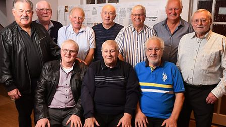 Reedham Football Club players reunion at the Ship pub in Reedham.Surviving players from the 1968/196