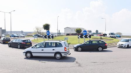 The Vauxhall Roundabout on the Acle New Road in Great Yarmouth.April 2016.Picture: James Bass