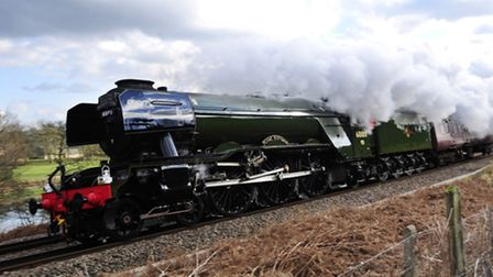 The Flying Scotsman in all its glory. We won't be seeing this in East Anglia. Photo: John Giles/PA W