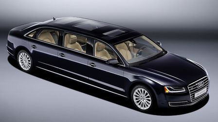 Special order Audi A8 limousine is 6.3m long and seats six people in three rows..