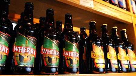 Woodforde's Brewery in the broadland village of Woodbastwick.Bottled Wherry on sale in the brewery s