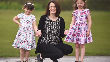 Pupils at Wells Primary School are putting on a fashion show. Pictured are (L) Daisy, Tanya Cobb and