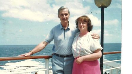 Ann and John Barber on holiday. .Search for pen-pal: Submitted pictures