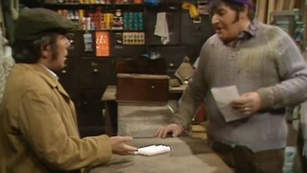 The Two Ronnies in their classic sketch, The Hardware Store. Such local stores still need our patron