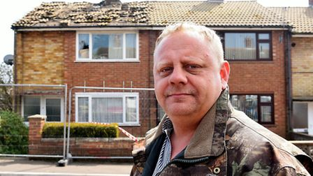 Ricky Tovell who came to the rescue of a lady inside the house struck by lightning in Gorleston.Pict