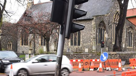 The redundant pedestrian crossing traffic light that was struck by a lorry driver on Saturday mornin