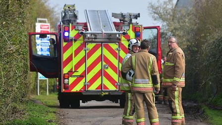 Fire Crew attend the scene of a fire at a scrap yard in Seething.PHOTO: Nick Butcher