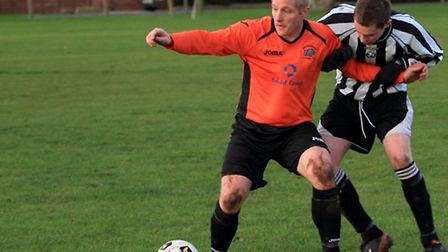 Ricky Forder was on target for Acle. Picture: Ronnie Heyhoe