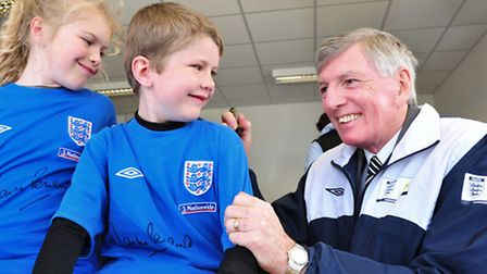 1966 England World Cup star Martin Peters at Waveney Youth FC, Lowestoft in 2012. Picture: Nick But