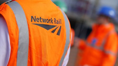 File photo dated 09/10/13 of workers wearing Network Rail vests. Photo credit should read: Jonathan