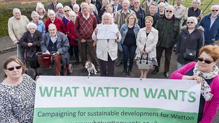 Residents of Mallard Road in Watton are unhappy with the proposed 177 homes that being builts on the
