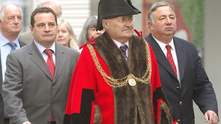 Cllr George Jermany pictured when he was Yarmouth mayor in 2006.