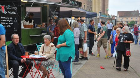 Feast on the Street, part of the Norfolk and Norwich Food Festival 2014 outside the Forum, Norwich.