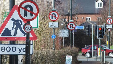 All signed out but moves are under way to get rid of pointless traffic signs.