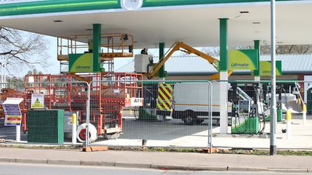 The Lynn Hill Service Station in Dereham which has undergone redevelopments to become a BP filling s