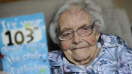 103 year old Gladys Reid pictured at Lloyd Court in Holt. Picture: MARK BULLIMORE