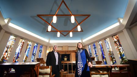 Norwich Synagogue congregation are trying to raise money for renovations. Dr Marian Prinsley and Nic
