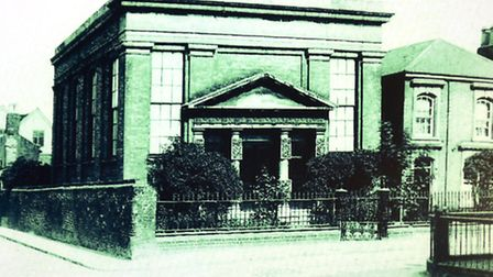 The Norwich Synagogue which was destroyed in 1942.Picture: ANTONY KELLY