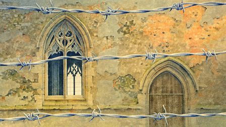 Out Of Bounds To Troops (Tottington), a painting by artist Gerard Stamp donated to be auctioned at t