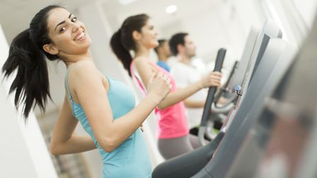 A Generic Photo of a group of people on the treadmill in the gym. Picture: PA Photo/thinkstockphoto