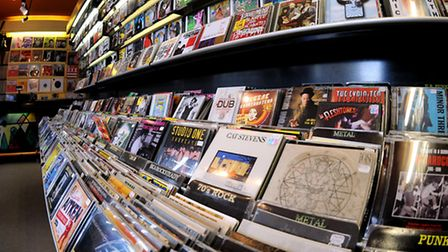 CDs and new vinyl at Soundclash in St Benedicts, Norwich; Photo: Bill Smith; Copy: Kim Briscoe; For: