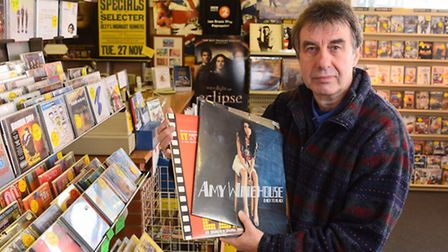 Roger Webster who runs an independent music shop called Music Lovers on Gorleston High Street.Pictur